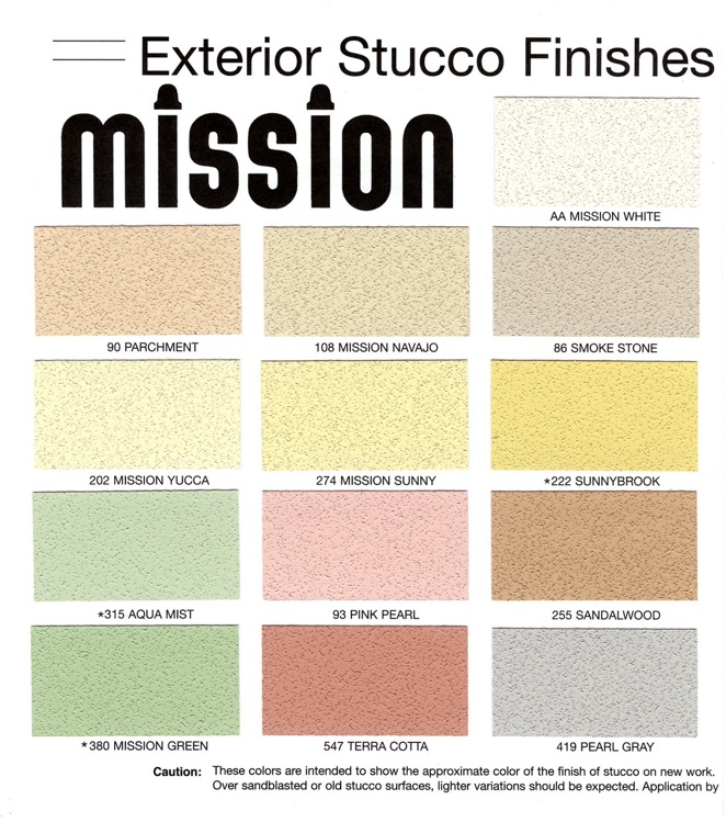 Color for Mission stucco